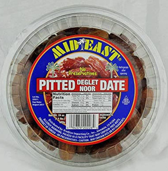 Mid East-pitted dates 2lbs