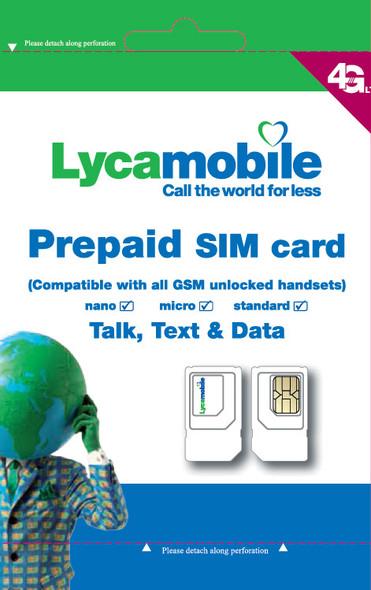 Lycamobile Sim Card - Free