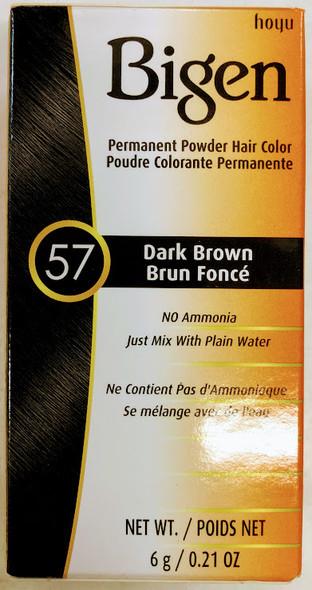 Bigen Hair Color #57 Dark Brown - 6g