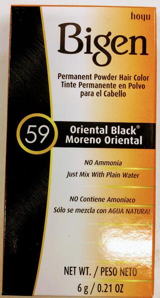 Bigen Hair Color #59 Oriental Black - 6g