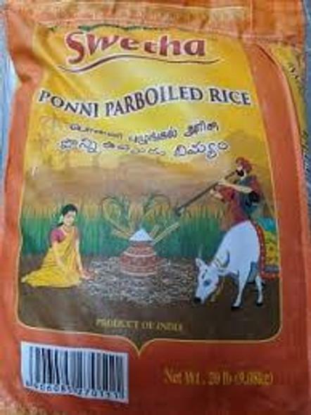 Swetha Ponni Boiled Rice 20 Lbs