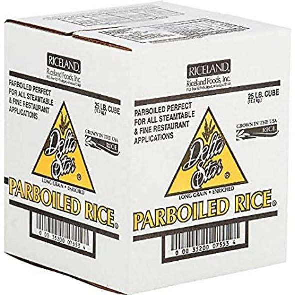 Delta Parboiled Rice 25 LB Box