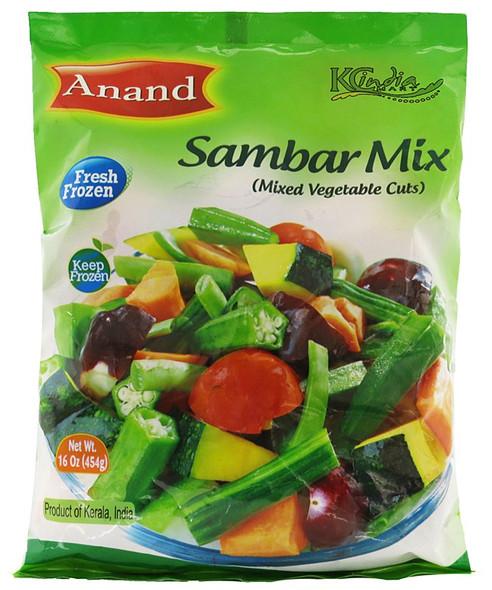 Anand Frozen Sambar Mix (Mixed Veg) - 1lb