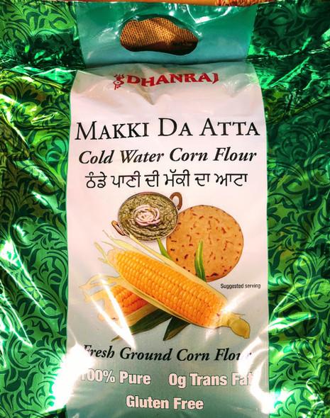 Dhanraj Cold Water Corn Flour Makki Atta - 2lb