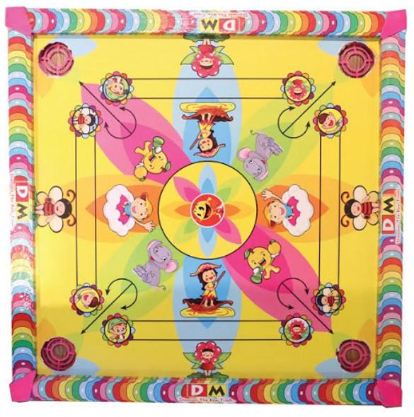 "Family Fun 2 in 1 Kids Carrom Board & Ludo Game 20""x20"""