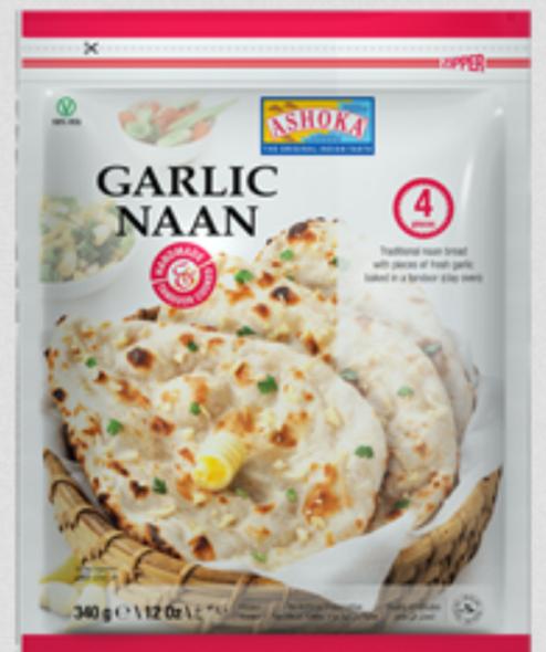 Ashoka Tandoori Naan-Garlic 340gm