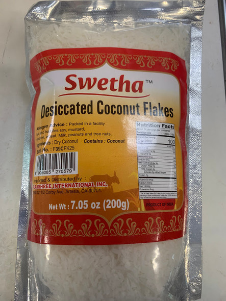 Swetha Dessiccated Coconut Flakes 200 Gms