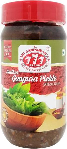 777 Gongura Pickle 300 Gms - Buy 1 Get 1 Free