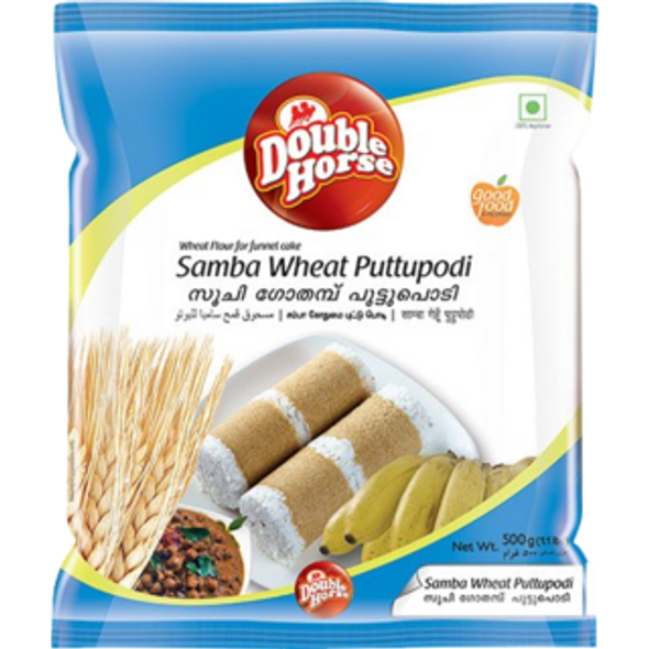 Double Horse Samba Wheat Puttupodi - 1 K