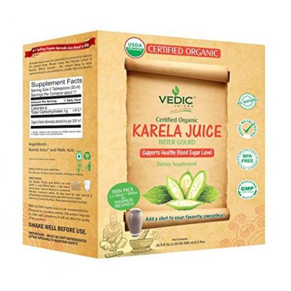 Vedic Organic Karela Juice (twin pack) 1ltr