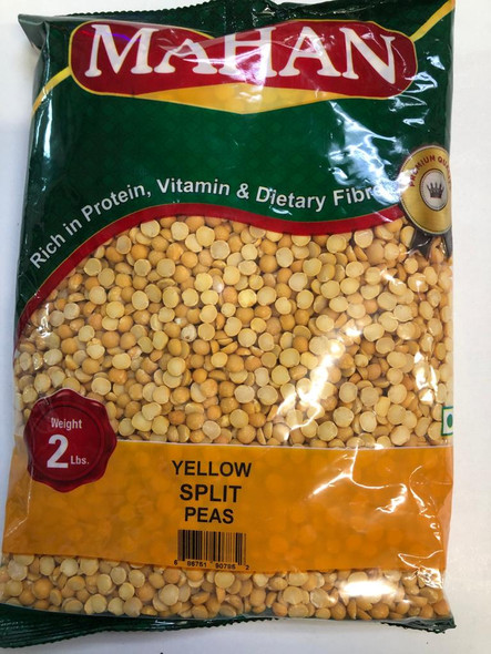 Mahan Yellow Split Peas 2lb