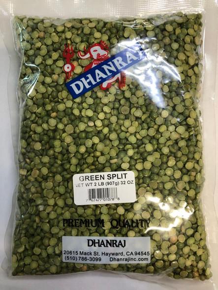 Dhanraj Green Split Peas 2 LB