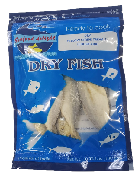SeaFood Delight  Dry Yellow Stripe Trevally (Choopara) 100g