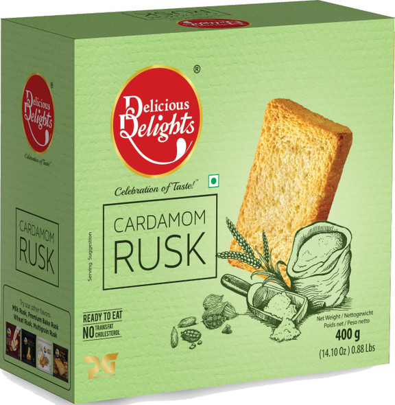 Delicious Delights Cardamom Rusk 400gm