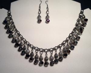 Elegant crystal drops necklace set