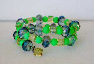 Green Envy wrap bracelet