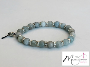 Stunning Moonstone and Rhinestone Bracelet
