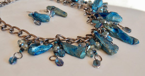 Blue Kyanite Statement Necklace Set