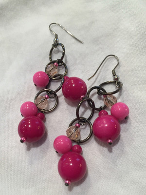 Pink tones earrings