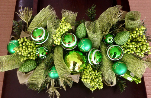 Custom order Christmas Centrepiece - Green
