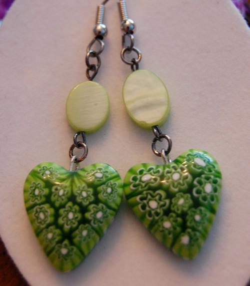 Cheery green hearts