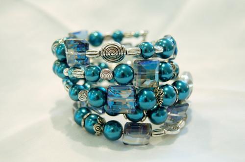 Stunning Shades of Blue Wrap Bracelet