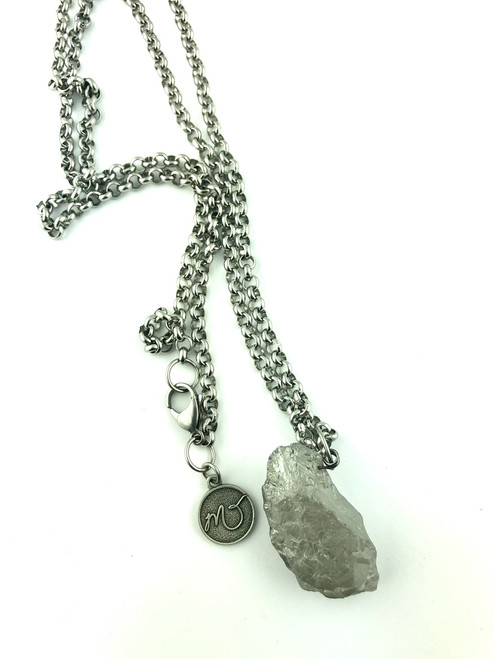Electroplated Quartz on a Stainless Steel chain