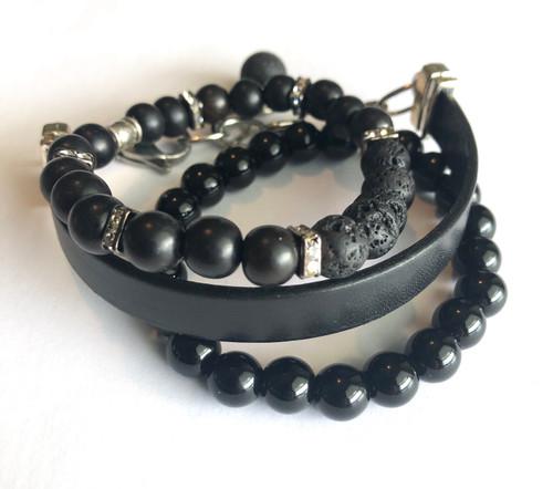 Black Brilliance Bracelet set