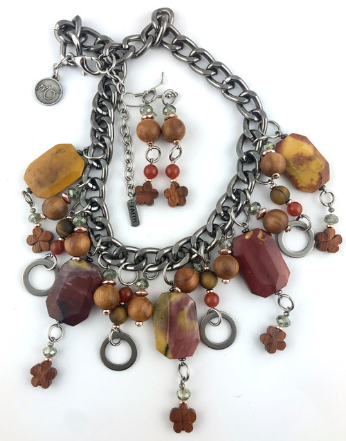 Rich and Sensual Mookite Necklace Set