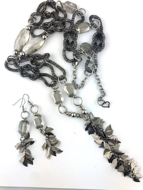 Silver Slinkey Necklace Set