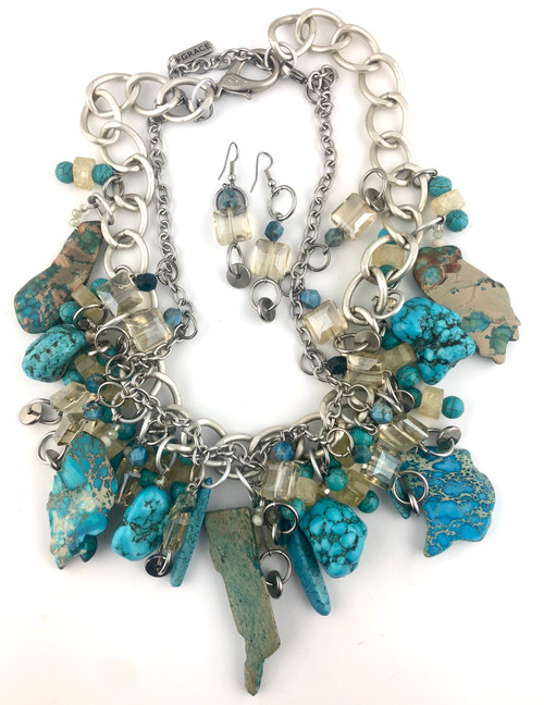 The Power of a Turquoise Dragon Necklace set