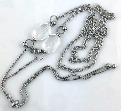 Clear Quartz Slider Necklace