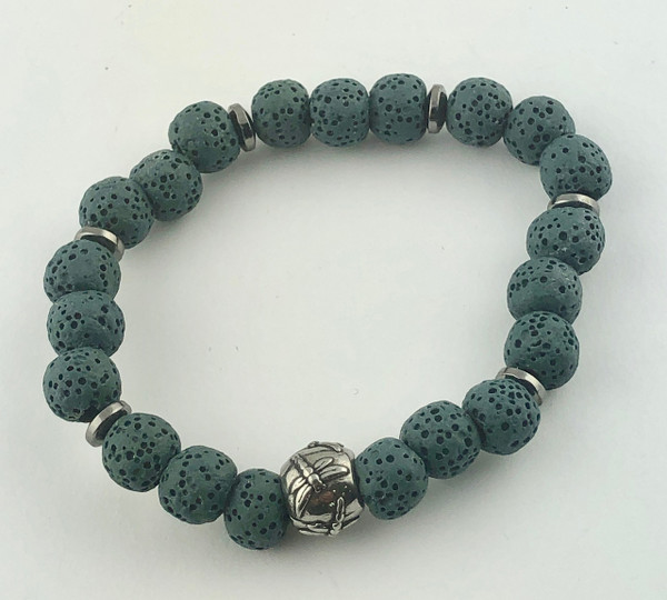 Coloured Lava Rock Essential Oil Bracelet