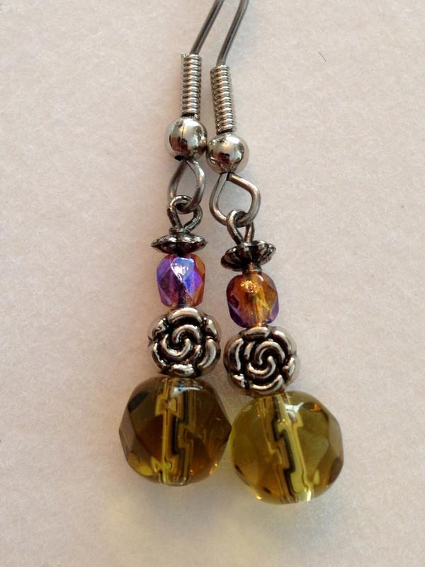 amber crystal small drop
