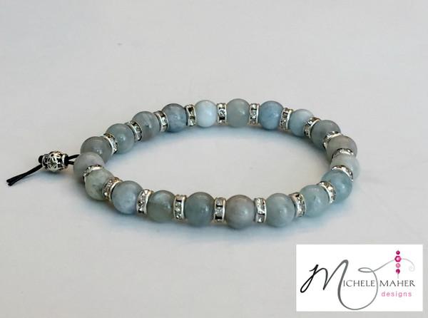 Stunning Moonstone and Rhinestone Bracelet