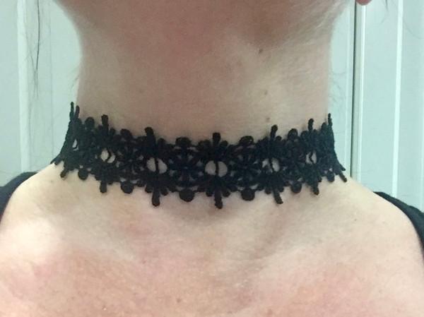 Black Lace Choker #1