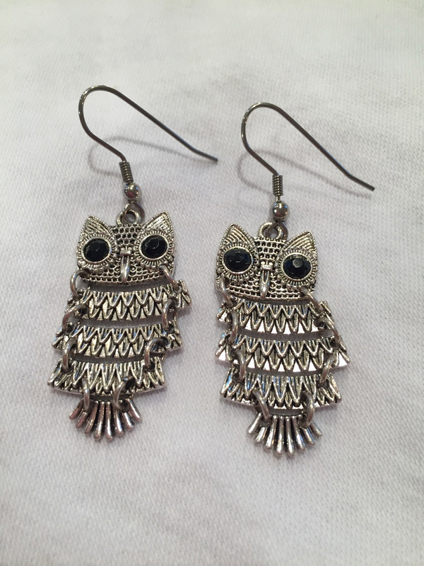 Owl earrings - small