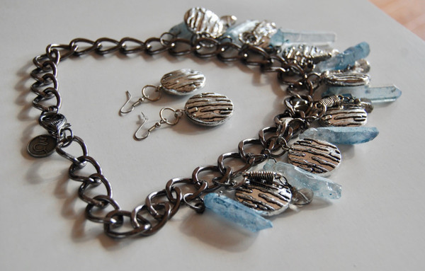 Light Blue Kyanite Necklace Set