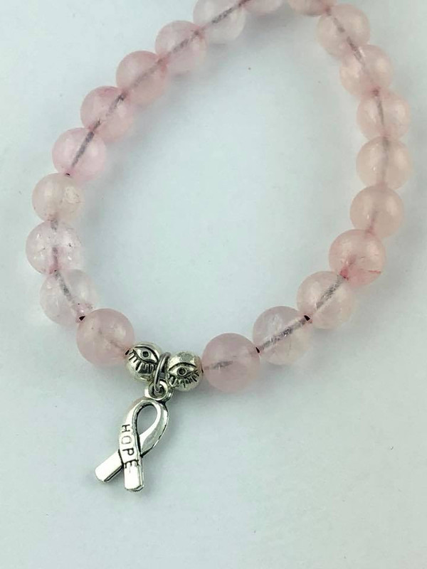 """Ribbon of Hope"" Breast Cancer awareness bracelet"