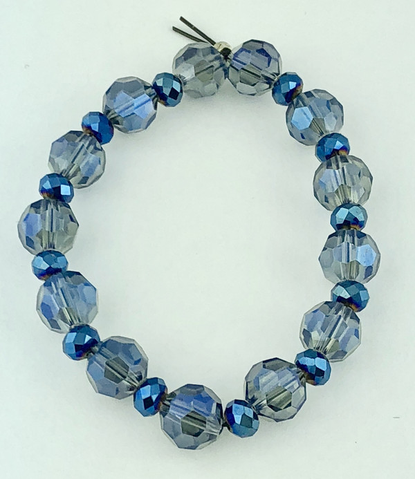 Stunning Shades of Blue Crystals Bracelet