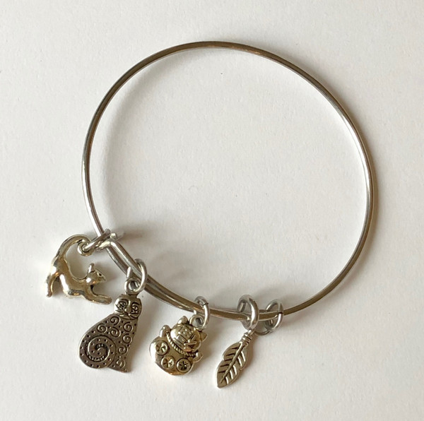 All about Cats Stainless Steel Bangle