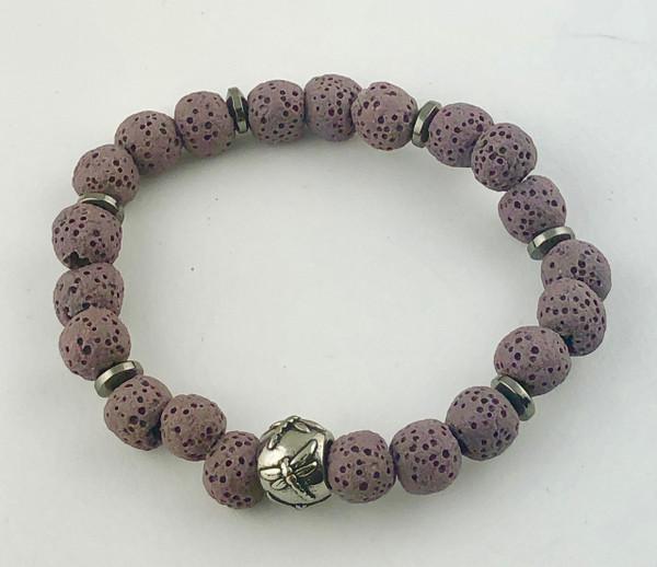 Coloured Lava Rock Essential Oil Bracelet