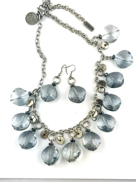 Icy Blue Sparkles Necklace Set