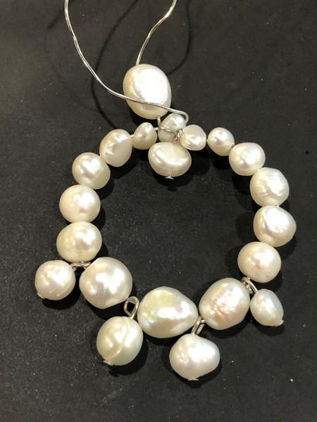 Custom Freshwater Pearl Statement Earrings
