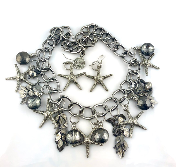 Starfish and Sparkles Necklace Set