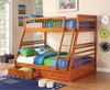 Murphy Honey Twin over Full Bunk Bed with Storage