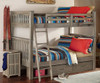Crosspointe Driftwood Bunk Beds full over full with storage drawers in room