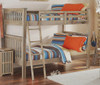 Crosspointe Driftwood Bunk Beds full over full in room