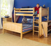 Lingo Natural Twin over Full L Shaped Bunk Beds Room