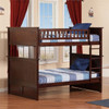 Reese Walnut Cottage Bunk Beds Full over Full lifestyle